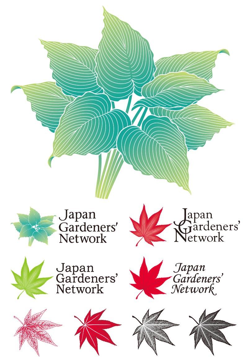 CamomoのイラストでJGN関係ロゴを5種作成ボツのもの